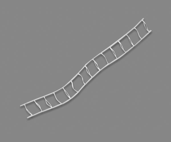 Stegband 35 mm Vit Metervara